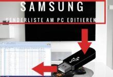 Bild von Samsung TV Senderliste am PC Editieren