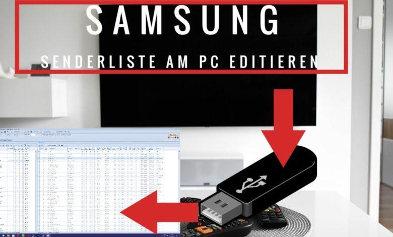 Samsung TV Senderliste am PC Editieren