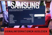 Bild von Samsung TV – Signalinformationen auslesen