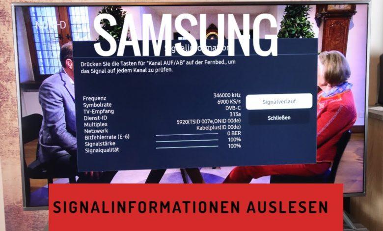 Samsung TV Signalinformationen auslesen