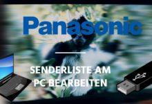 Bild von Panasonic – Senderliste am PC bearbeiten