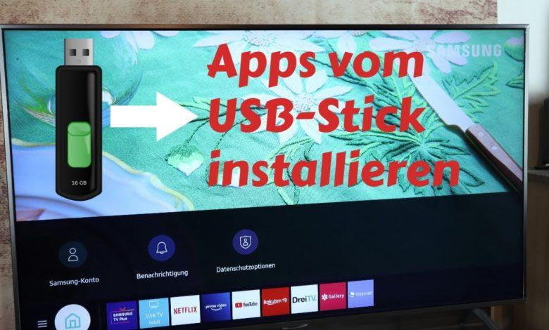 Samsung TV Apps vom USB Stick installieren