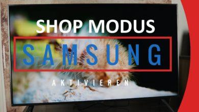 Bild von Samsung TV Shop Modus aktivieren/deaktivieren