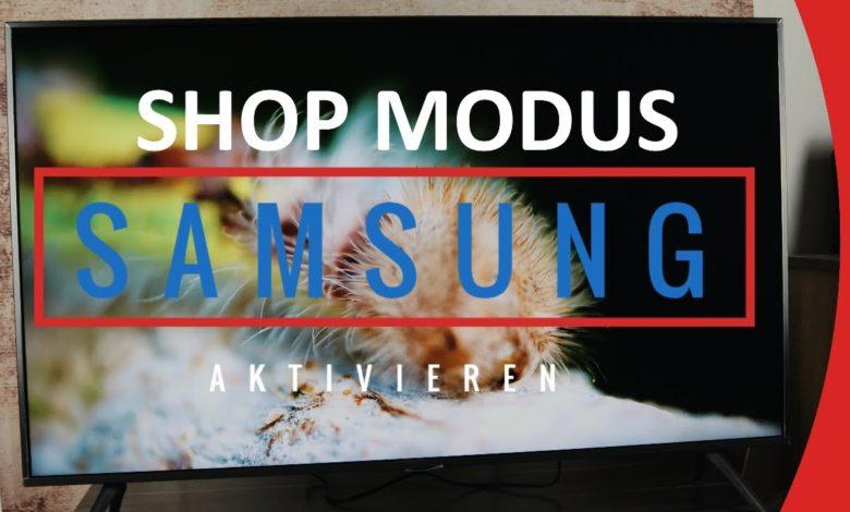 Samsung TV Shop Modus aktivierendeaktivieren