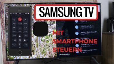 Bild von Samsung TV mit Smartphone steuern