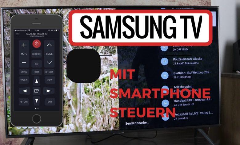 Samsung TV mit Smartphone steuern