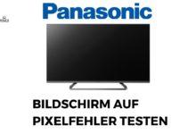 Bild von Bildschirm auf Pixelfehler testen Panasonic
