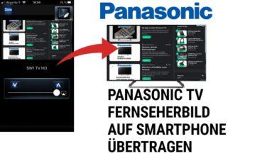 Bild von Fernseherbild auf Smartphone übertragen Panasonic