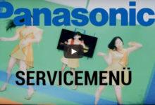 Bild von Service Menü Panasonic 2020