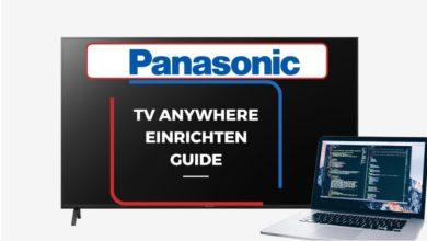 Bild von Panasonic TV Anywhere einrichten