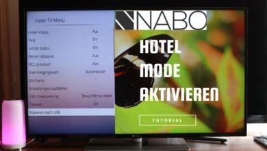 Bild von Nabo Serie 7500 Hotel Mode aktivieren