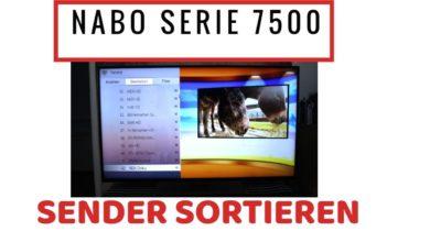 Bild von Nabo Serie 7500 Sender sortieren