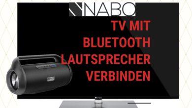 Bild von Nabo Serie 7500 mit Bluetooth Lautsprecher verbinden