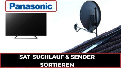 Bild von Sat Suchlauf Panasonic TV & Sender sortieren