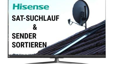 Bild von Sat Suchlauf & Sender sortieren Hisense TV
