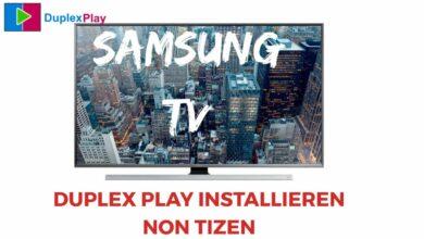 Bild von Duplex Player auf Samsung TV installieren-Non Tizen