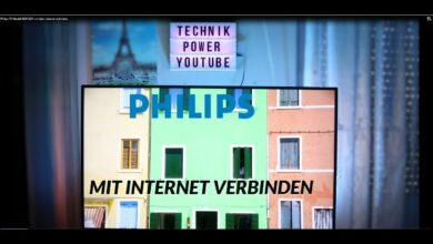Bild von Philips TV Modell 2020/2021 mit dem Internet verbinden
