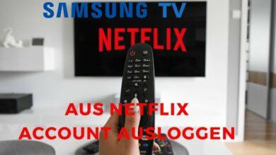Bild von Samsung TV aus Netflix Account ausloggen