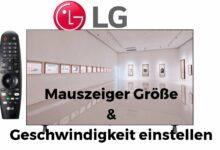 Bild von LG Mauszeiger Größe & Geschwindigkeit einstellen