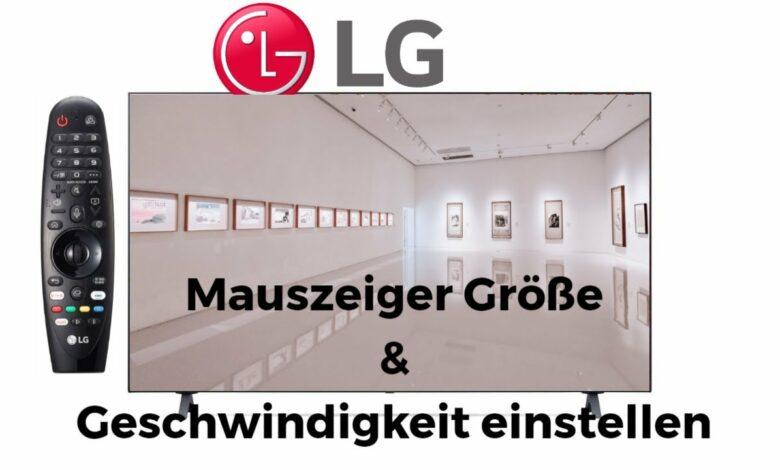 LG Mauszeiger Groesse amp Geschwindigkeit einstellen
