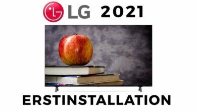 Bild von LG TV 2021 Erstinstallation