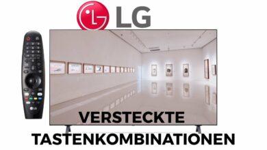 Bild von LG TV Tastenkombinationen verstecktes Menü