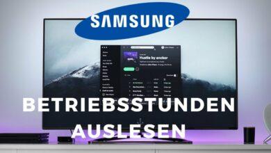 Bild von Samsung TV Betriebsstunden auslesen
