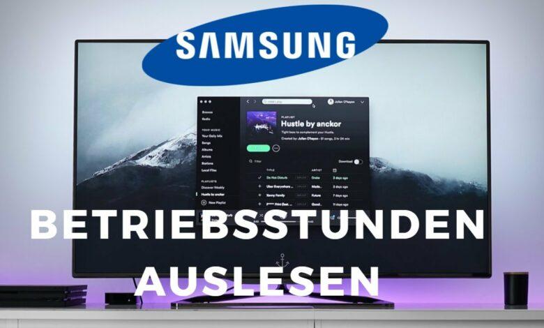 Samsung TV Betriebsstunden auslesen