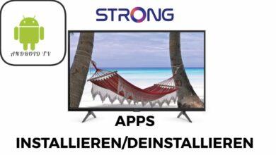 Bild von Strong Android TV Apps installieren & deinstallieren