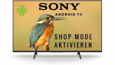 Bild von Shop Mode aktivieren Sony Android TV 2021