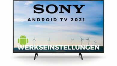 Bild von Werkseinstellungen Sony Android TV 2021