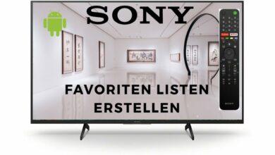 Bild von Favoriten Listen erstellen Sony Android TV 2021