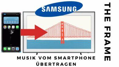 Bild von Musik vom Smartphone auf Samsung TV übertragen
