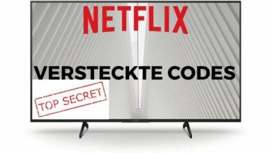 Bild von Netflix versteckte Codes
