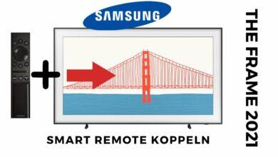 Bild von Samsung Smart Remote mit TV Koppeln