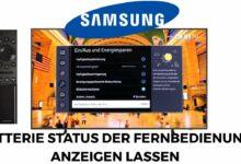 Bild von Samsung TV Batterie Status der Fernbedienung anzeigen lassen