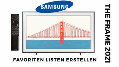 Bild von Samsung The Frame 2021 Favoriten Listen erstellen