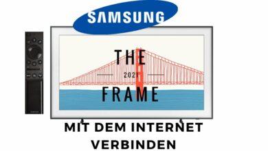 Bild von Samsung The Frame mit dem Internet verbinden
