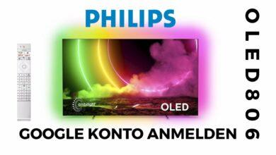 Bild von Google Konto anmelden Philips OLED 806