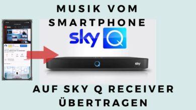 Bild von Musik vom Smartphone auf SKY Q Receiver übertragen