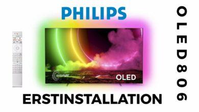 Bild von Philips OLED 806 Erstinstallation