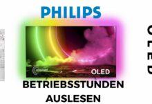 Bild von Philips OLED TV Betriebsstunden auslesen