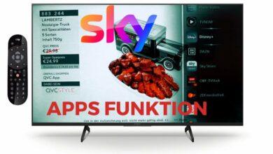 Bild von Sky Q Receiver Apps Funktion